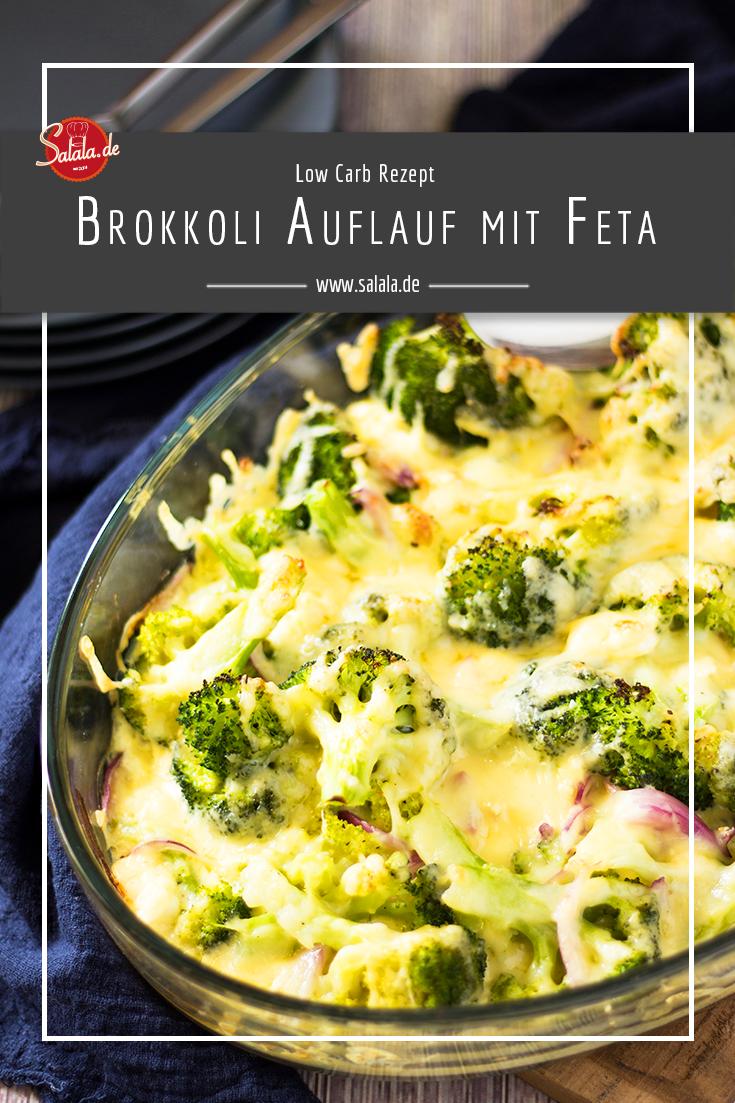 Brokkoli-Feta Gratin - Low Carb Rezept   salala.de – Low Carb leicht gemacht