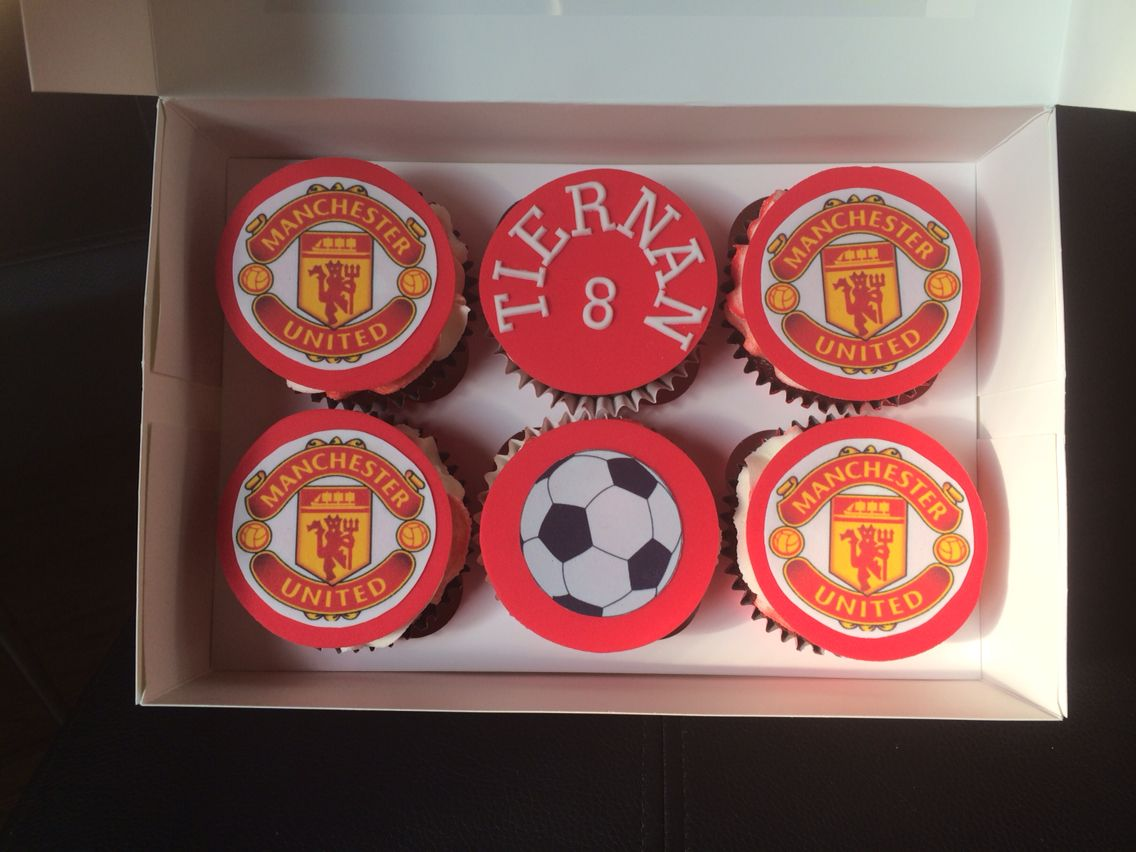 Manchester United Cupcakes Football Birthday Cake Homemade Cakes Eat Cake
