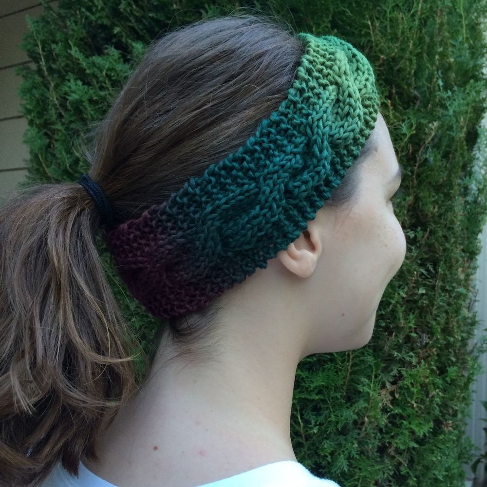 Easy Ombre Headband Free Knitting Pattern | Easy knitting projects ...