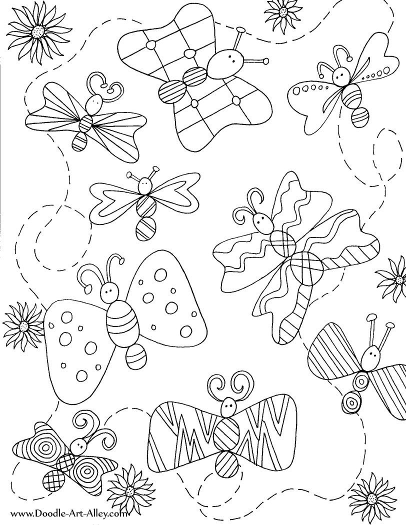 funny fly insects coloring pages - photo#48