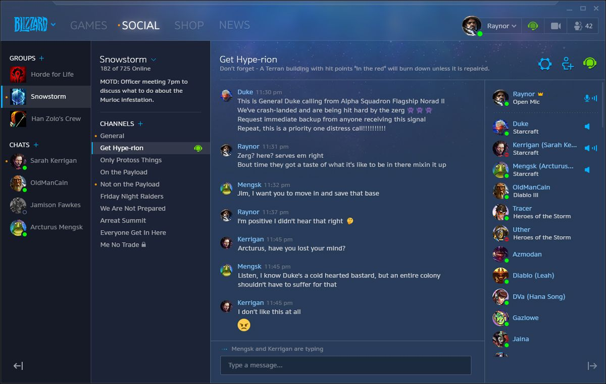 New Social Features and Appear Offline Now in Blizzard