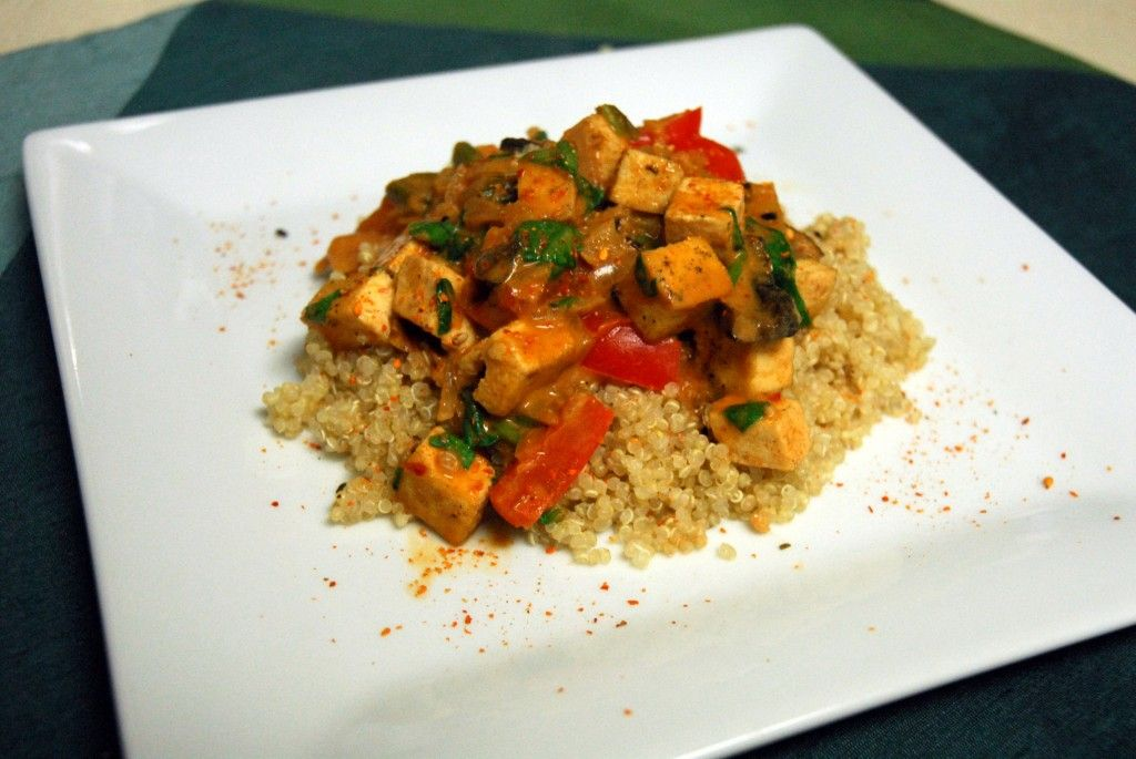 thai curry tofu plated 1