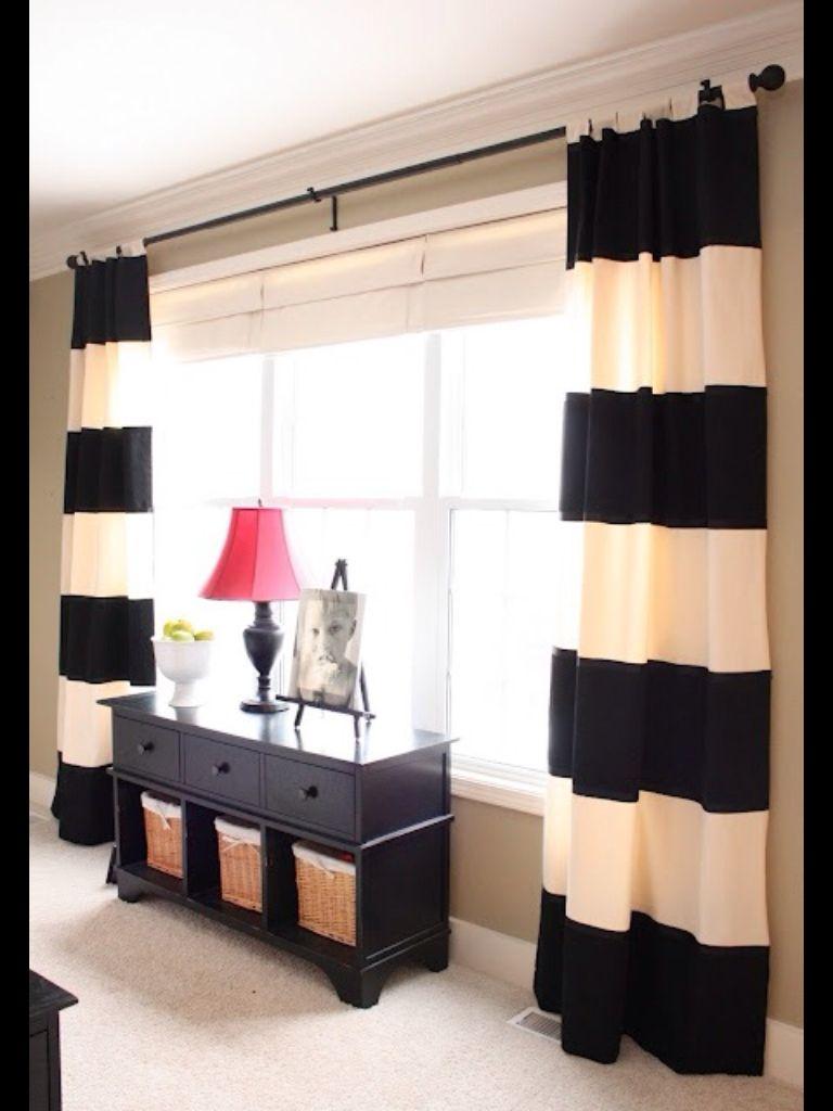 Blanco y negro rayas en las cortinas | cortinas | Pinterest ...