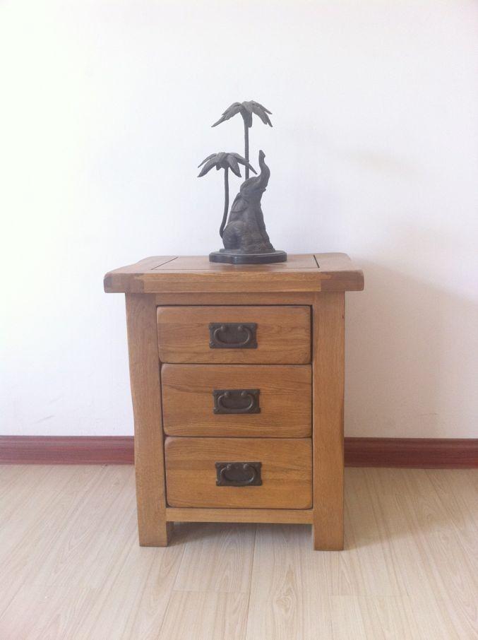38282639181 white oak all solid wood furniture bedside cabinet ...