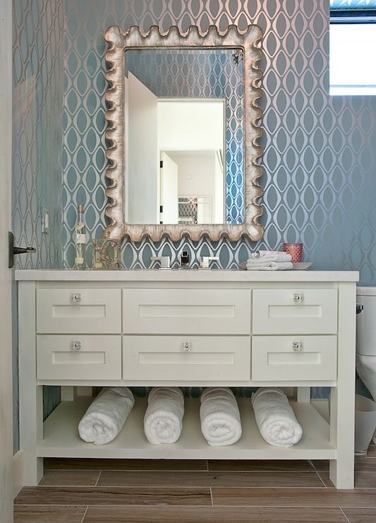 Gorgeous Bathroom With Brewster Home Fashions Eclipse Light