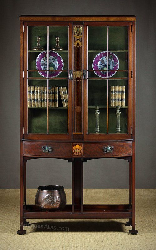 Early 20th C Arts Crafts Display Cabinet C 1905 Display Cabinet Arts And Crafts Craft Display