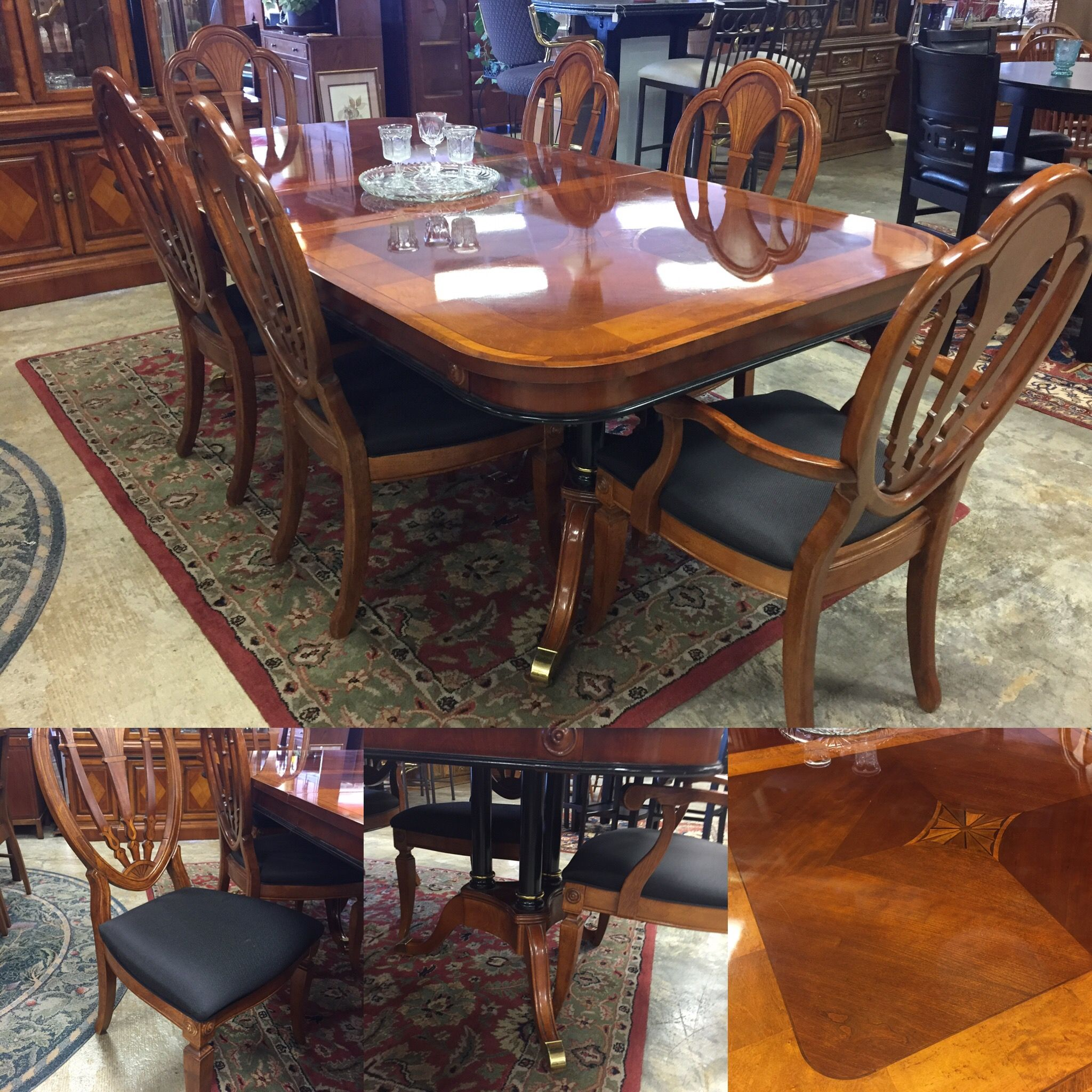 Absolutely stunning table and six chairs highly detailed piece has