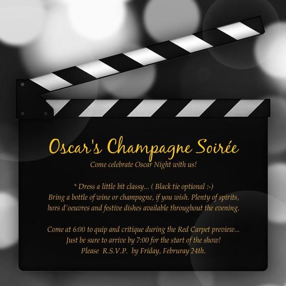 oscar invitations template invitation templates for the office