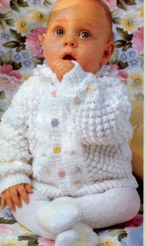 a627e225f PDF Digital Download Vintage Knitting Pattern Baby Cardigan or ...