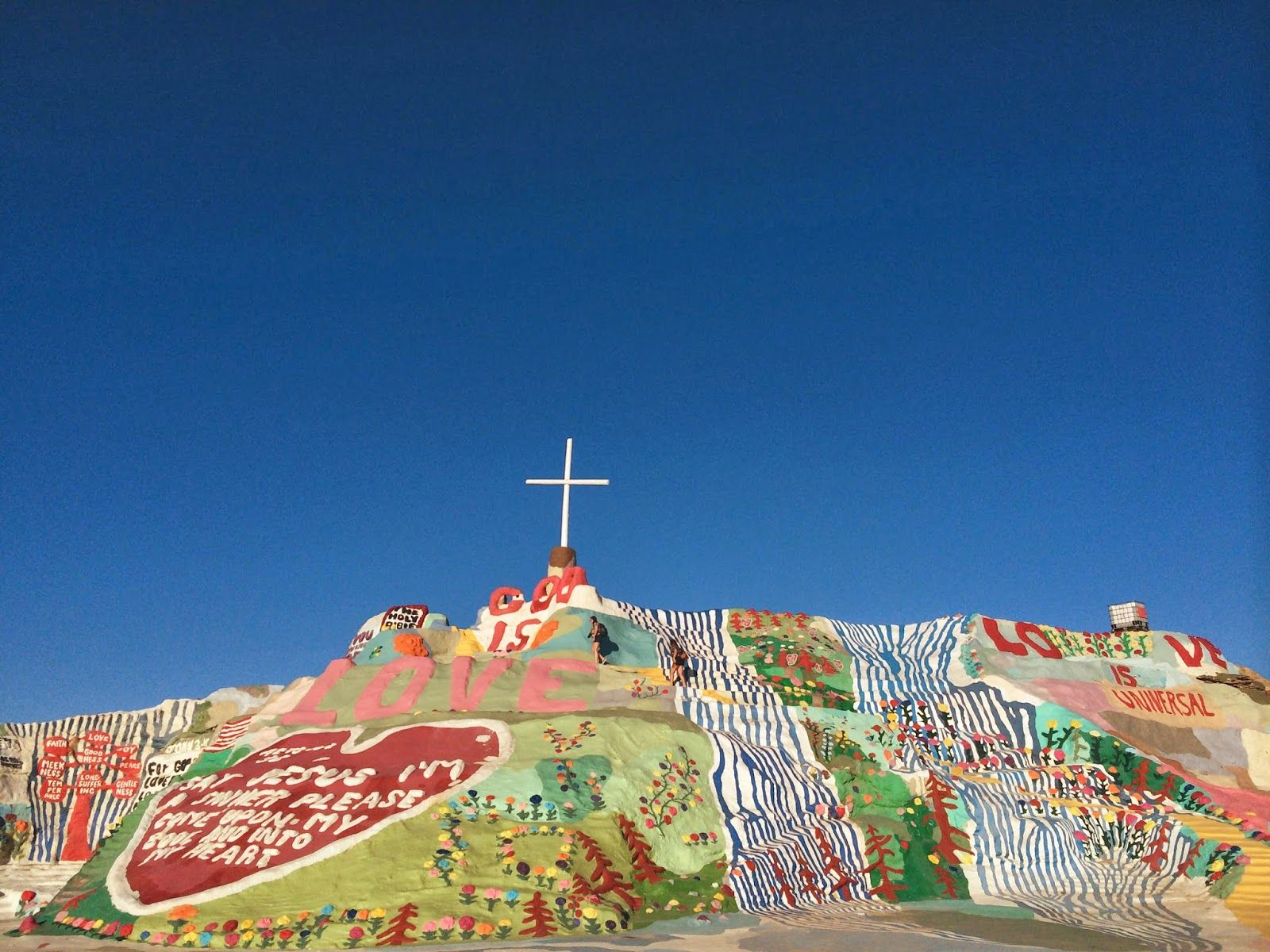 Salvation Mountain in Niland, CA (about a 40 minute drive off the beaten path near Palm Springs) is worth every second. #LProadtrip