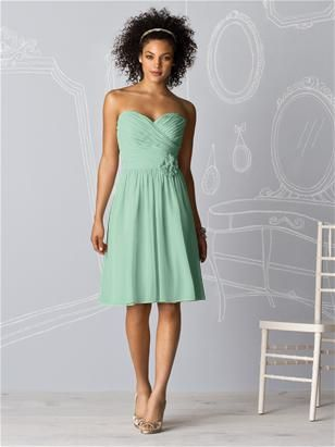 Super cute bridesmaid dress- Dessy After Six 6609 in Meadow