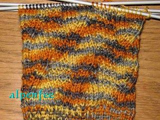 Falsches Zopfmuster Für Socken Imitated Cables For Socks B
