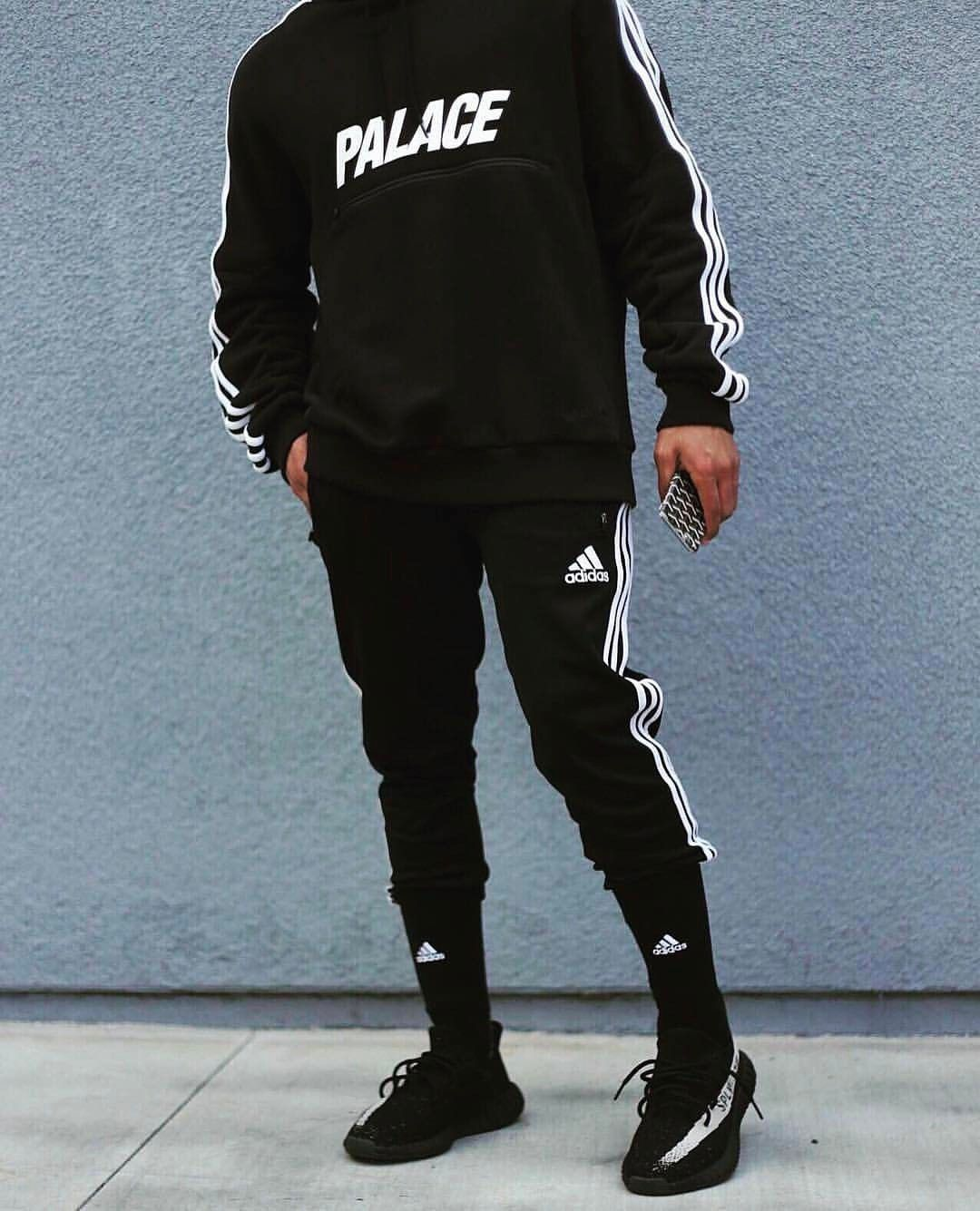 Follow @edriancortes for similar posts / / / / / palace adidas streetwear  blvck black outfit