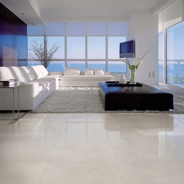 Large Shiny Floor Tiles Tile Floor Living Room Modern Floor