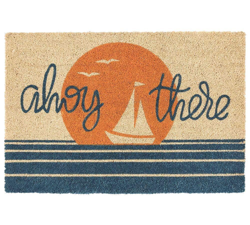 Ahoy There Horizon Doormat Multi 24 Quot X 36 Quot Rugs