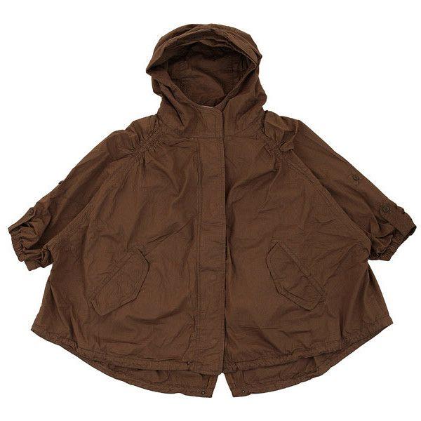 패션플러스 - 루즈핏 후드 야상점퍼[TDBJP24AW][여-카멜] ❤ liked on Polyvore featuring outerwear and jackets