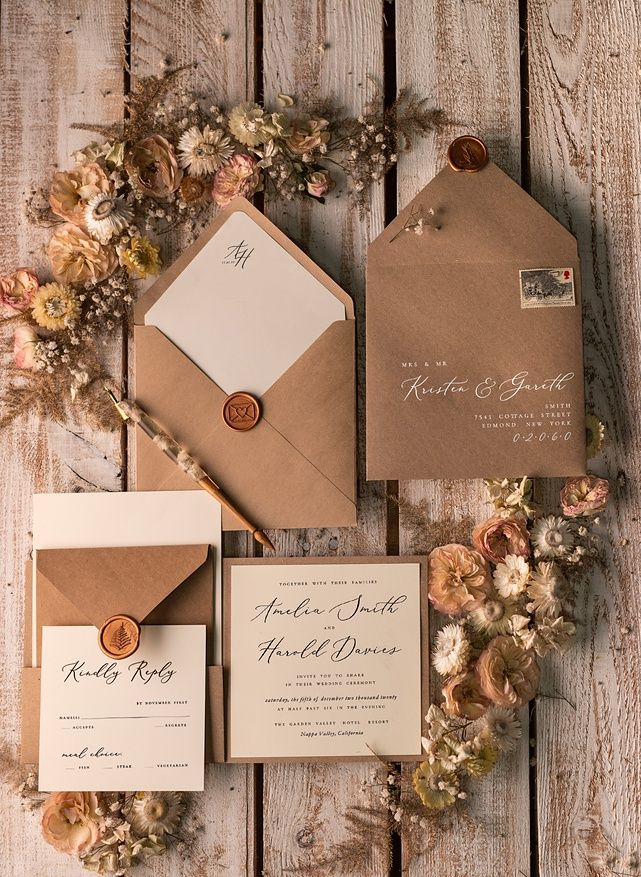 wedding invitations rustic / country / shabby chick 03/rusa/z