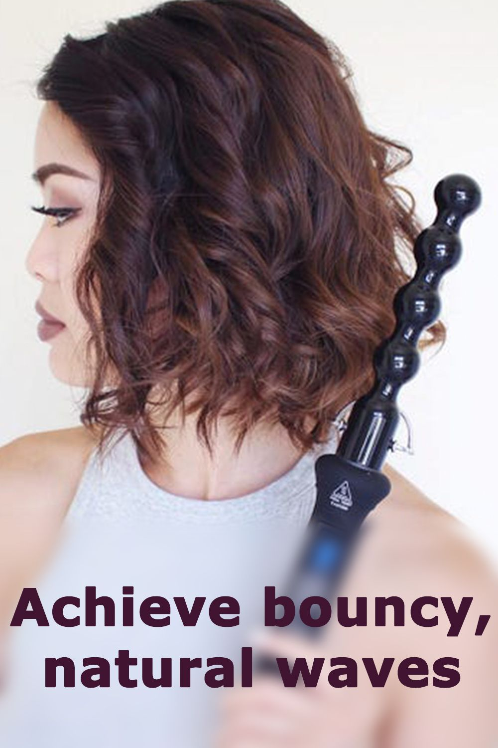 Classic Curling Wand Pearl In 2020 Wand Curls Bubble Wand Curls Wand Hairstyles