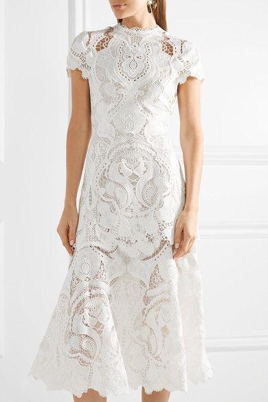 45d3185155 Jonathan Simkhai - Guipure lace midi dress | Products | Lace midi ...