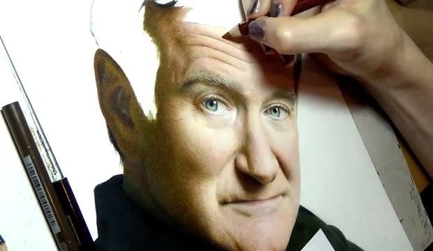 Heather Rooney's 'Drawing Robin Williams'