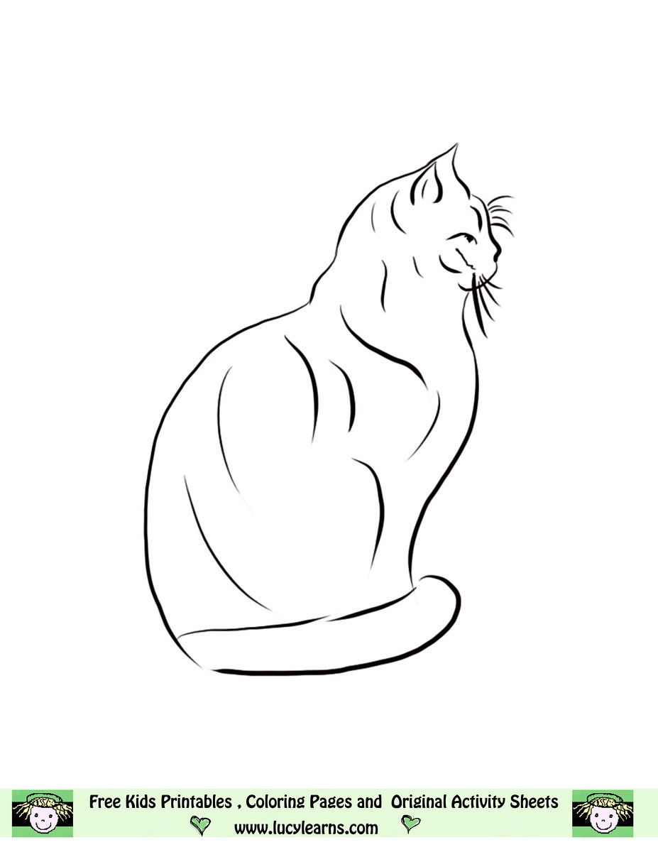 Cat color pages printable free cat coloring pageslucy learns free