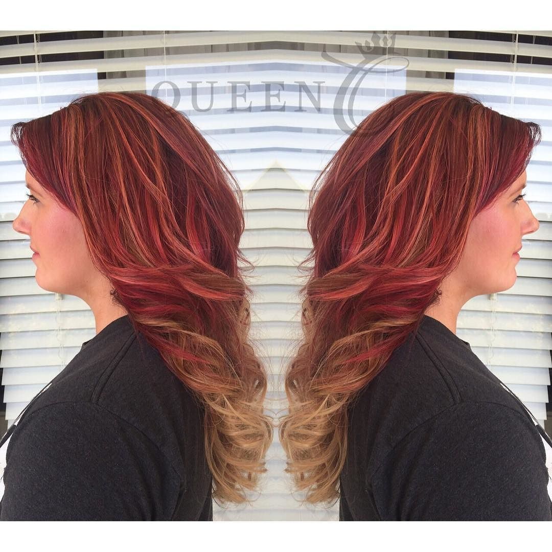 Blonde red extensions