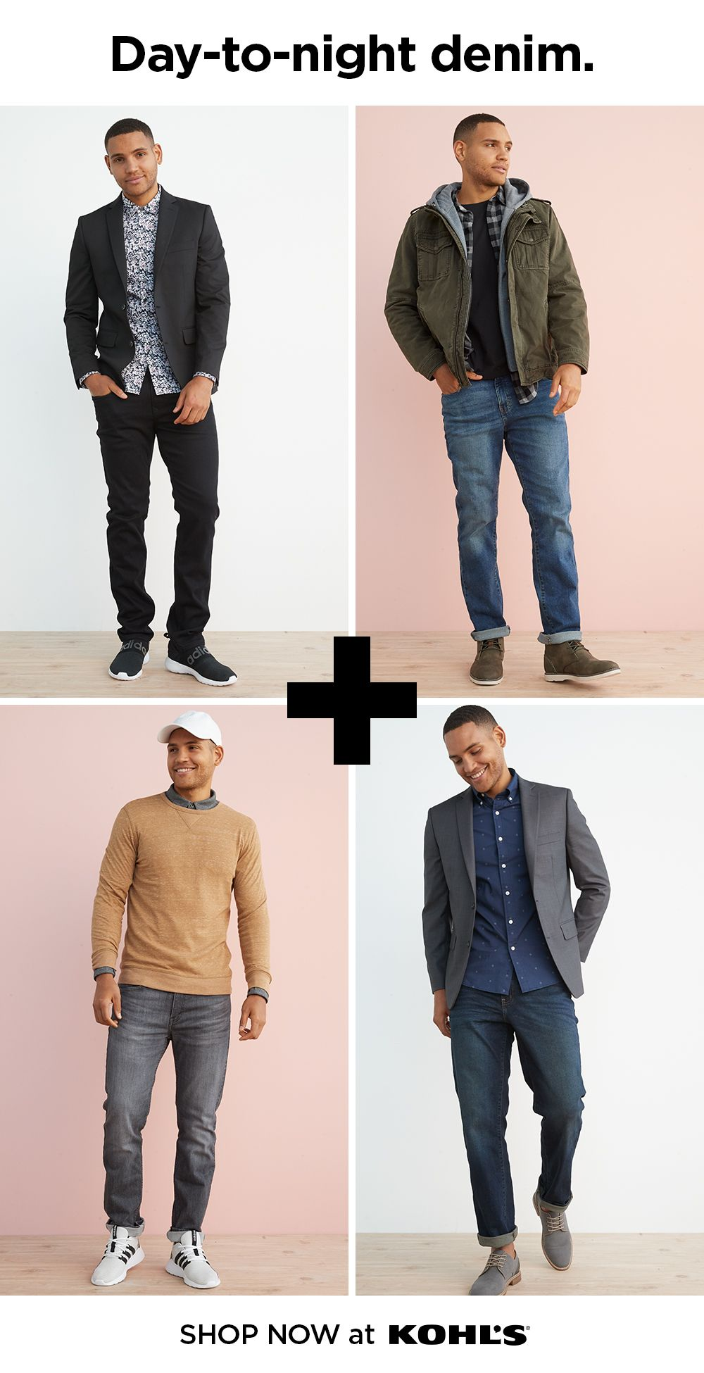 Find Jeans For Guys At Kohl S A Good Pair Of Everyday Jeans Are Are An Essential Part Of Every Guy S W Mens Fashion Fall Casual Mens Outfits Mens Fashion Fall [ 1950 x 1000 Pixel ]