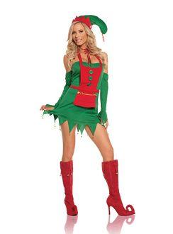 ELF TIGHTS AND BOOTS CHRISTMAS FANCY DRESS COSTUME S M L XL XXL XXXL XXXXL