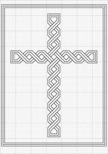 blackwork cross based on celtic interlacing free IF you