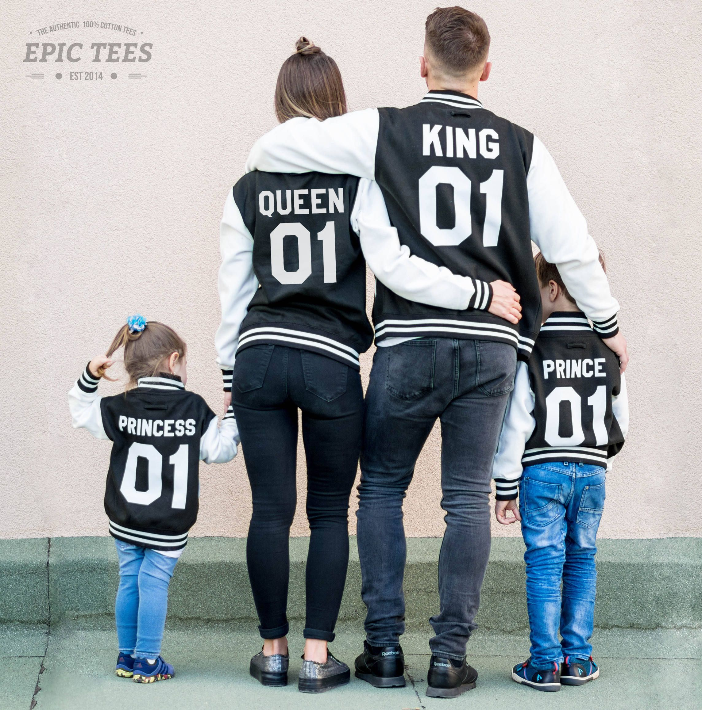 KING, Queen, Princess, and Prince Family Matching Sweatshirts
