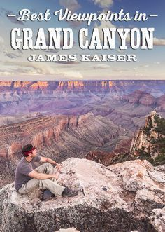 My guide to the best viewpoints in Grand Canyon National Park. Enjoy amazing views on the South Rim and North Rim. Discover Grand Canyon's best viewpoints for sunrise, sunset and how to avoid the crowds! #travel #usa #arizona #grandcanyon #grandcanyon