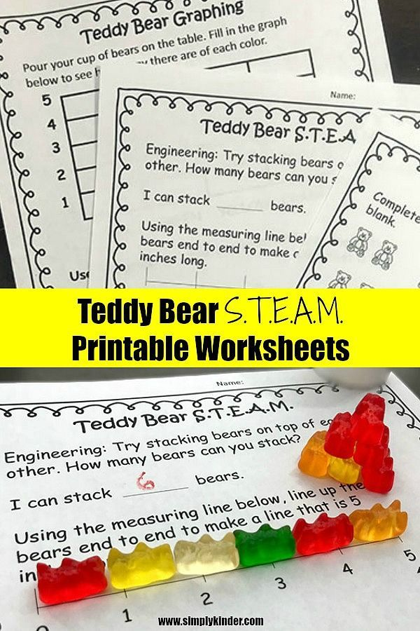 Teddy Bear Picnic Simple S.T.E.A.M. Worksheets | Printable ...