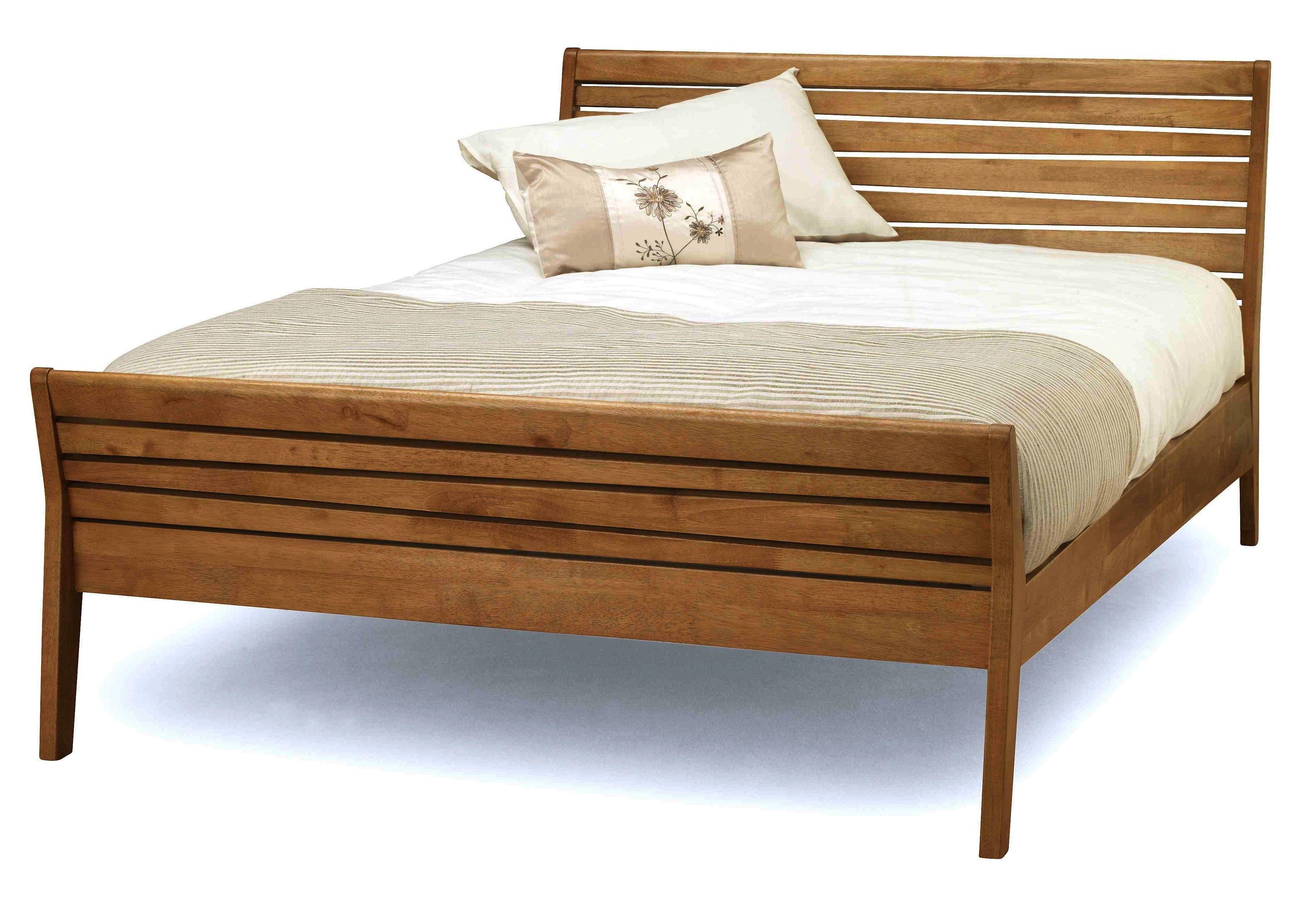 wooden bed frames zahra 46 double honey oak wooden - Double Bed Frames