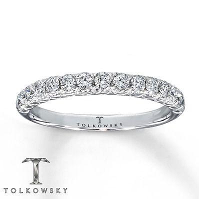 Tolkowsky Wedding Band 12 ct tw Diamonds 14K White Gold Weddings