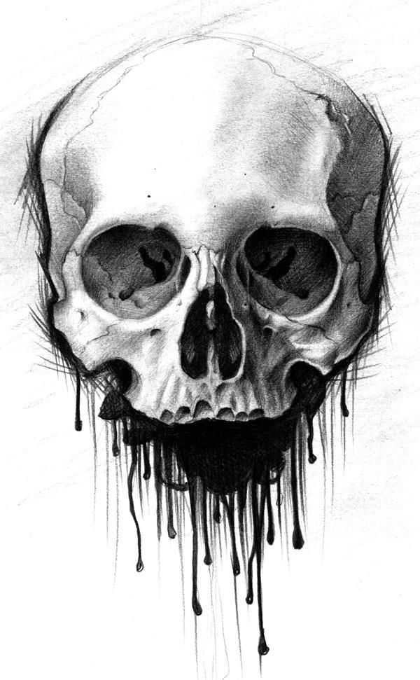 It's just a graphic of Impertinent Skull Drawing Black And White