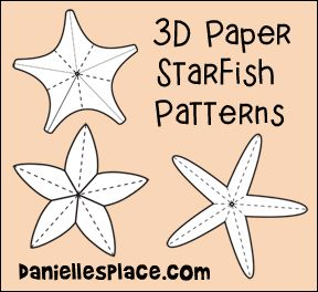 3d starfish patterns from daniellesplace ocean crafts 3d starfish patterns from daniellesplace pronofoot35fo Image collections