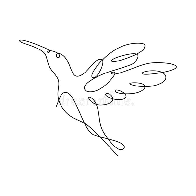 Dibujo Lineal Continuo De Minimalismo Colibri Dibujo Ilustracion Vectorial Naturaleza Vida Silvestre Continuous Line Drawing Line Drawing Bird Line Drawing
