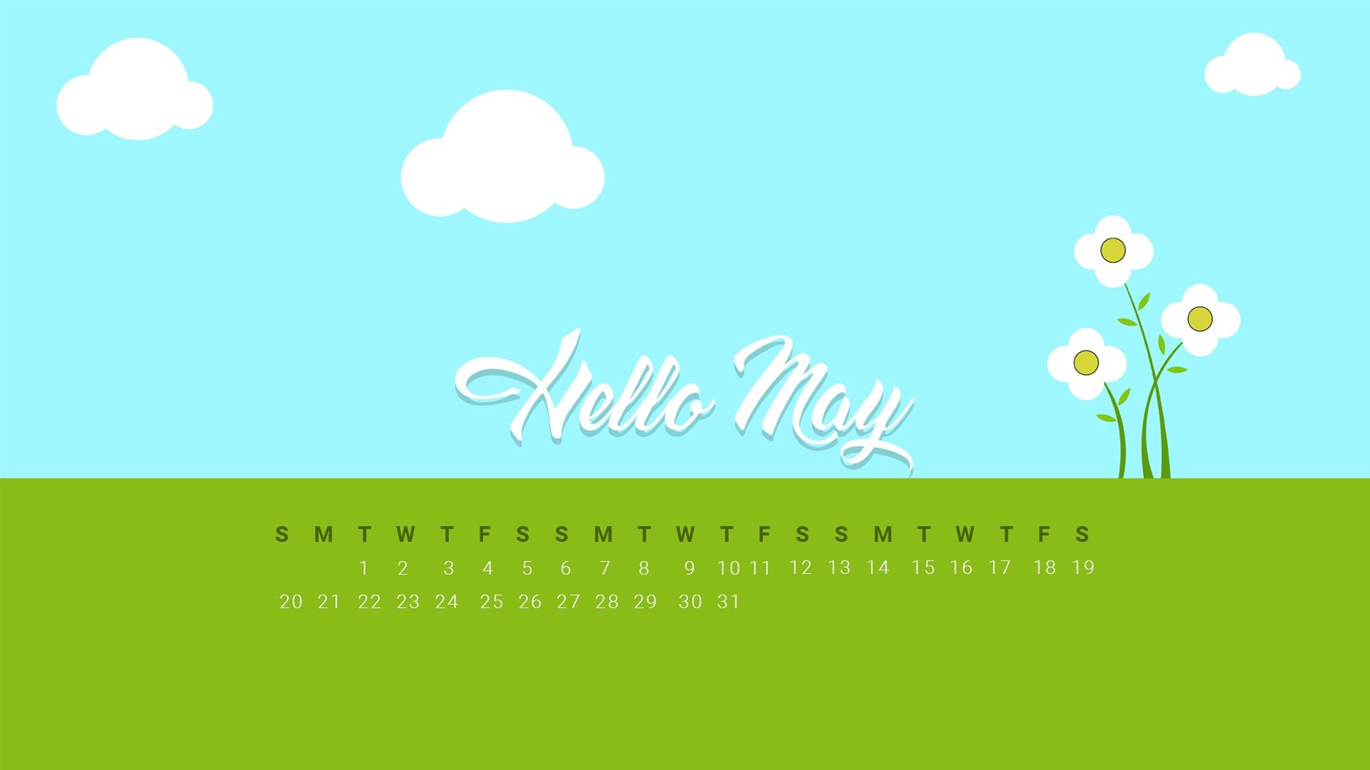 Hello May Month 2018 Calendar Wallpaper
