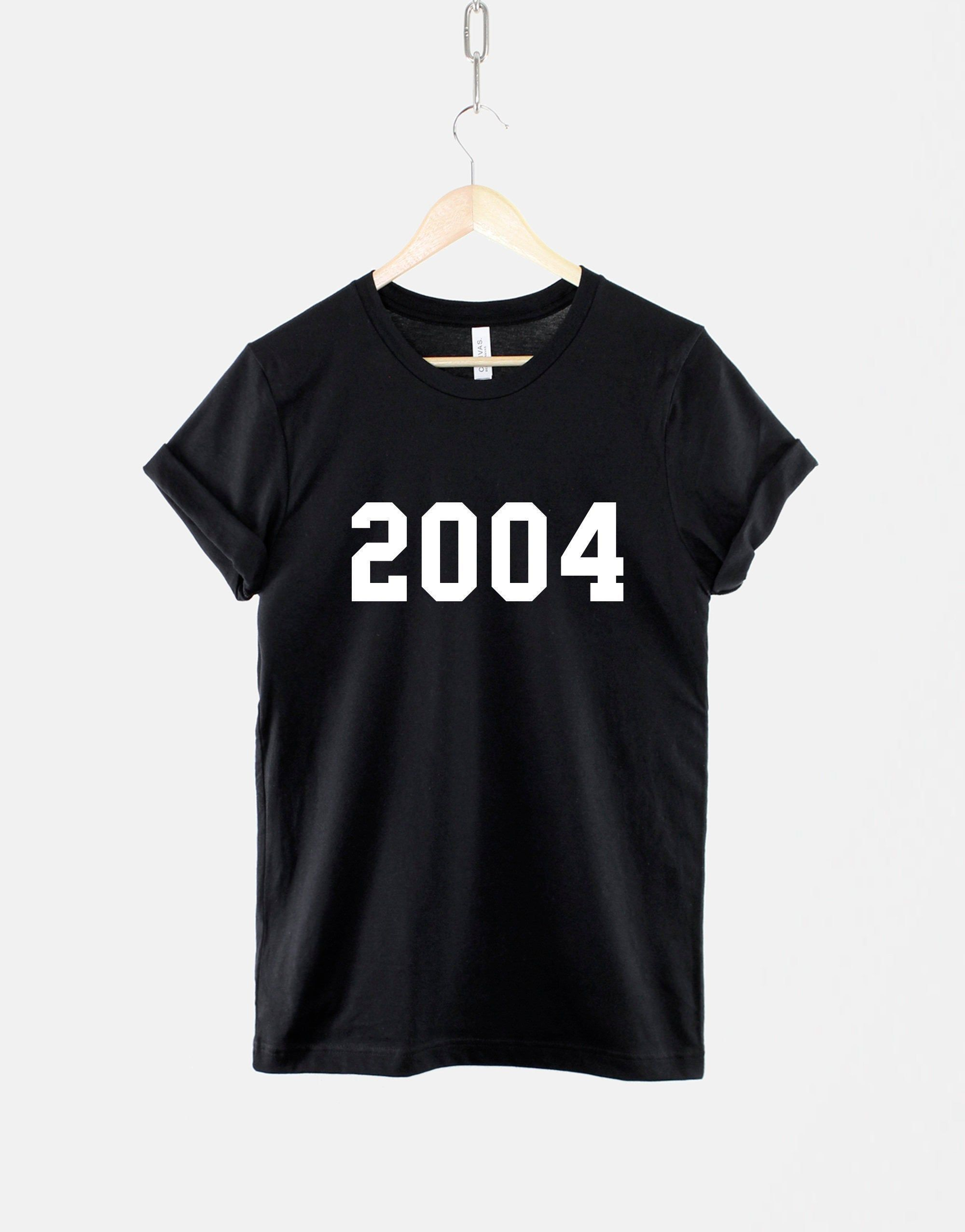 2004 16th Birthday Shirt Made In Year Numbers TShirt in