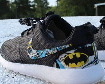 Nike Roshe Run Black Batman Custom