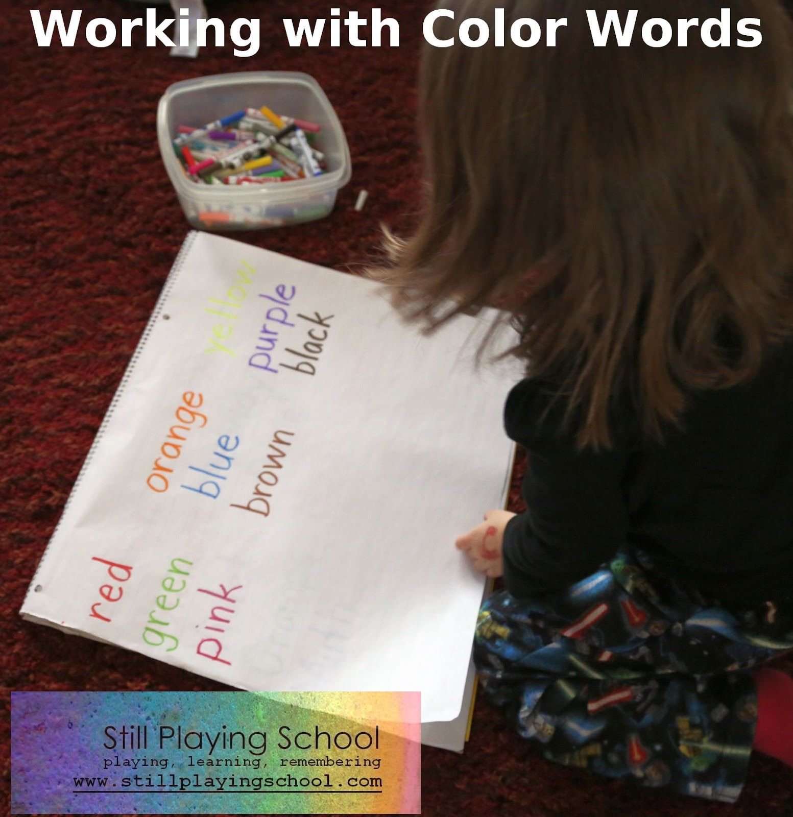 Color Word Lesson