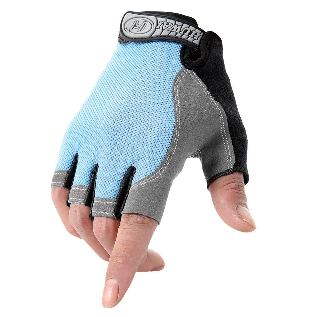 Half Finger Motorbike Cycling Bike GEL Padded Gloves for Mens Womens Gym Sports
