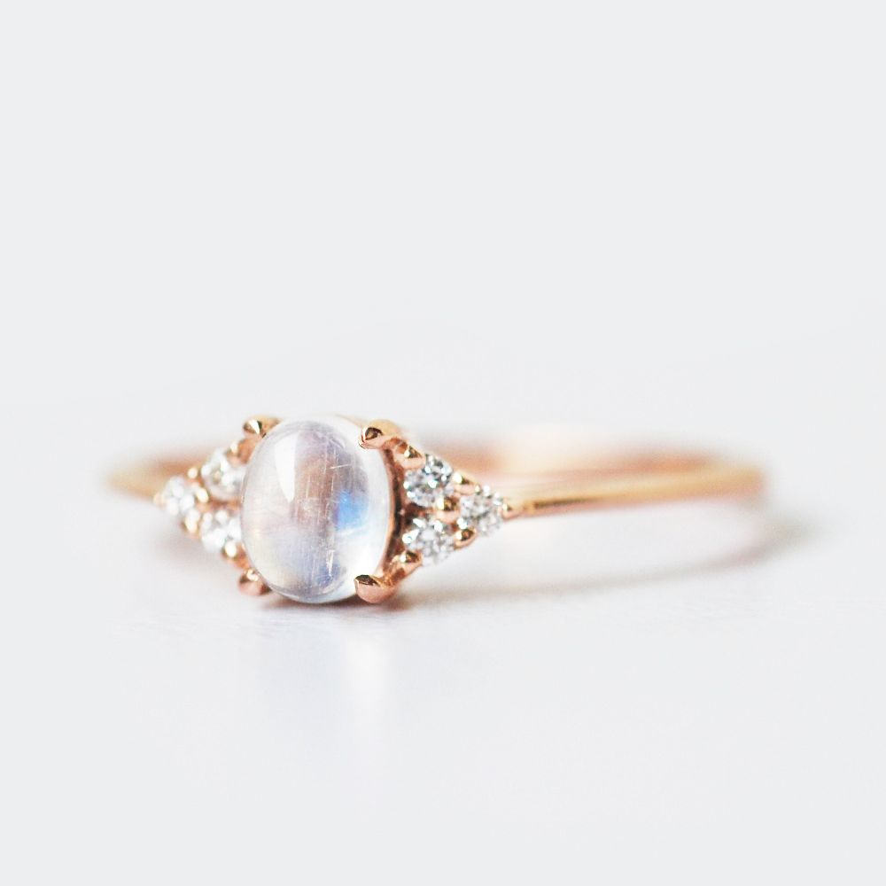 Moonstone and diamond ring moonstone and diamond engagement ring