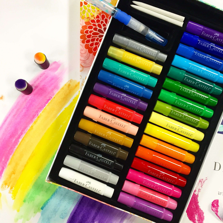 Faber Castell Gelatos Scrapbook Com A Rainbow Of Beautiful