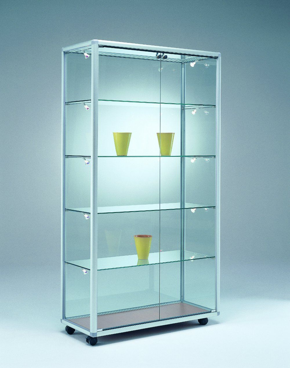 glasvitrine 99x52 5x184 5 cm vitrine pinterest glasvitrinen schaukasten und vitrine. Black Bedroom Furniture Sets. Home Design Ideas