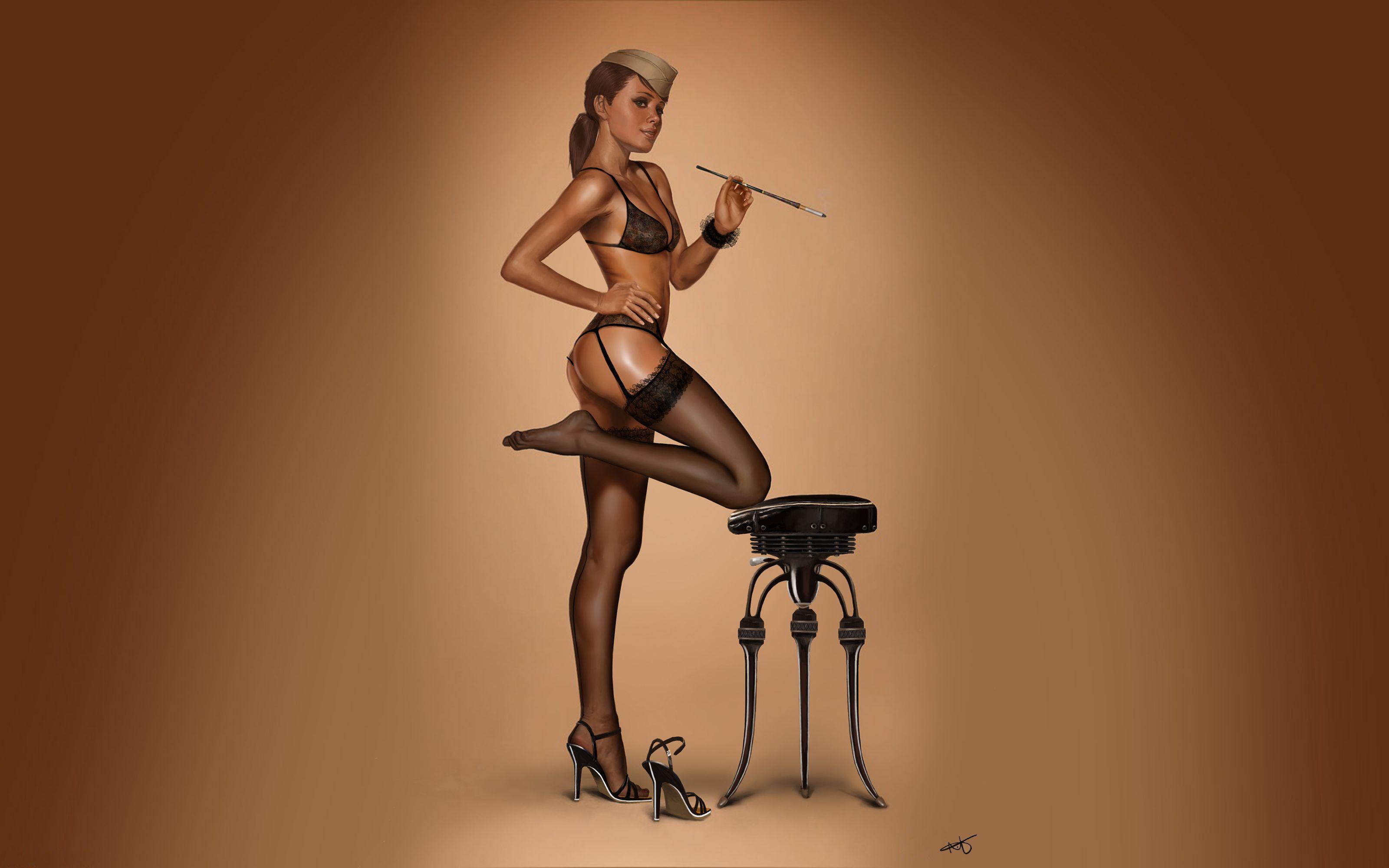 girl-black-pin-up-girl-nude-desi
