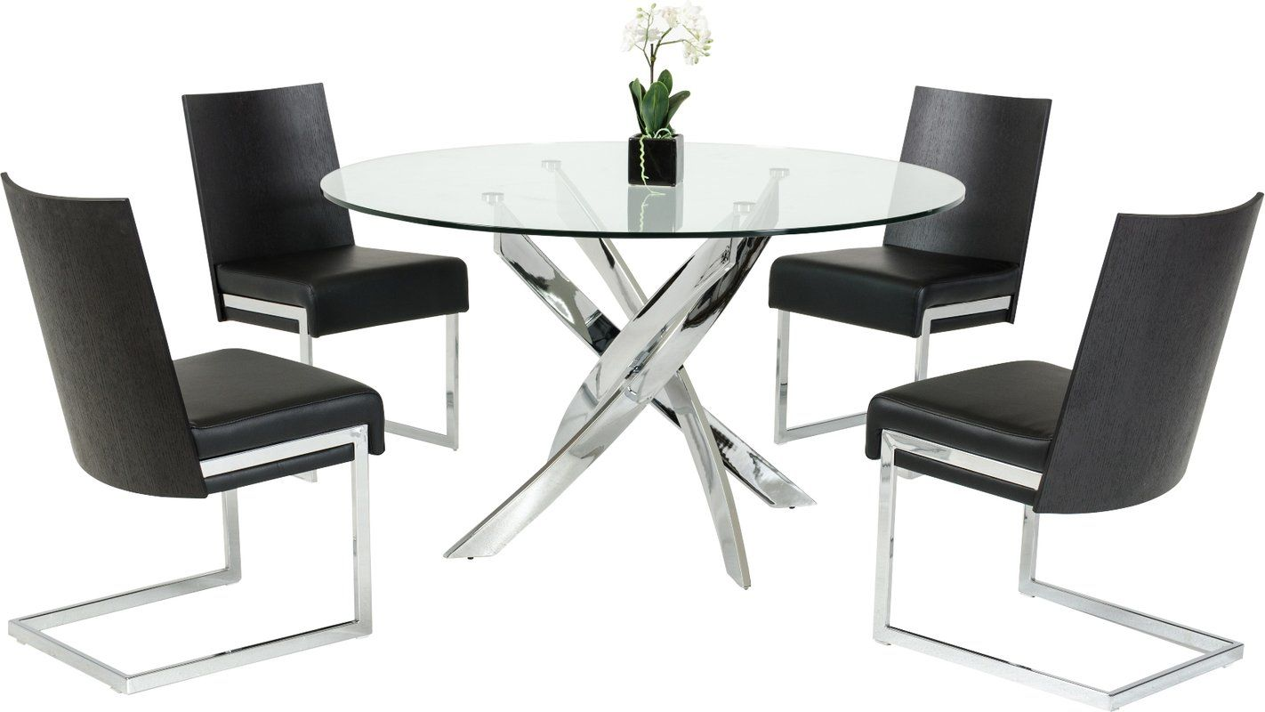 Camron Modern Glass Top Dining Table Glass Top Dining Table Glass Round Dining Table Modern Dining Table