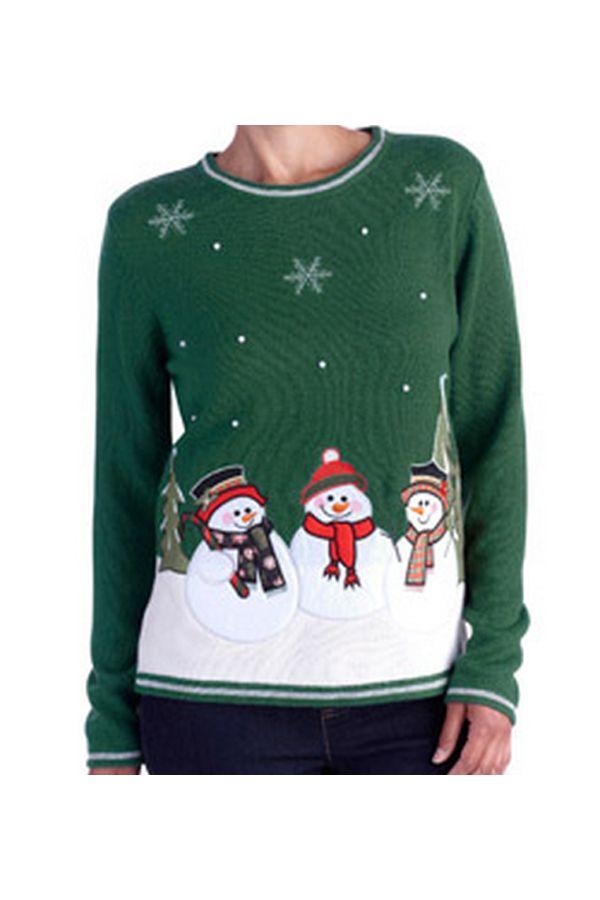 Women\u0027s Christmas Sweater - Look at those cute little snowmen
