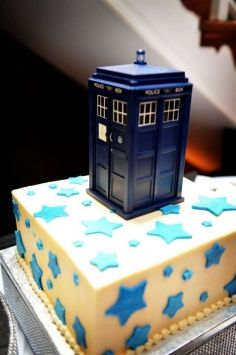 Blue Dr Who Tardis Cake Topper Tardis Cake and Tardis cake