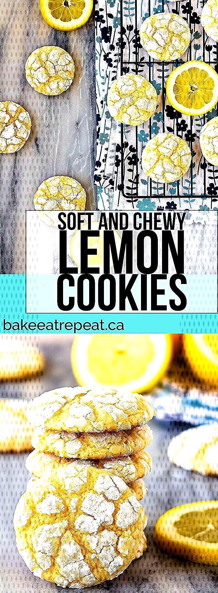 This easy recipe makes soft lemon cookies that are perfectly chewy. Coat them in powdered sugar bef